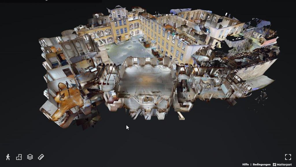 virtuelle Tour: 3D-Modell des Großen Schlosses