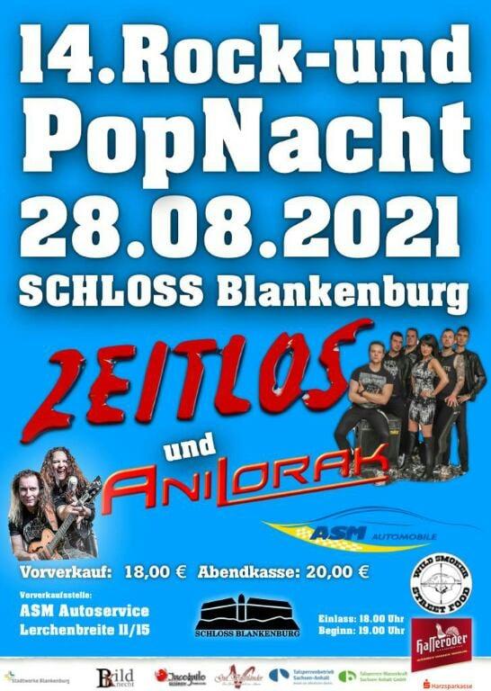 14. Rock- und Popnacht Schloss Blankenburg